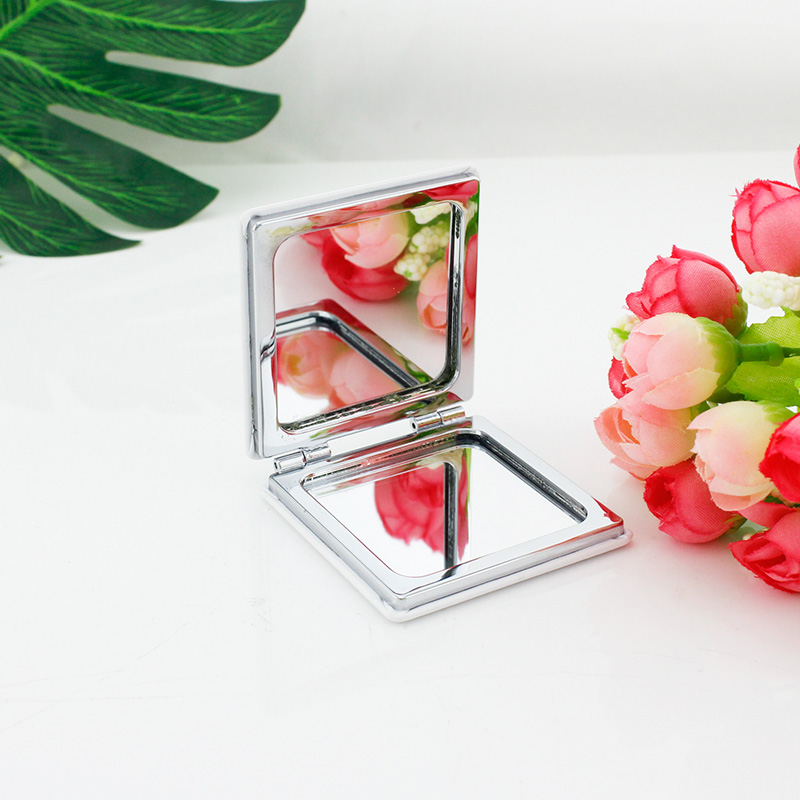 JWEIJIAO Red Vineyards Oil Photo Beauty Health Makeup Mirrors Square Folding 1X/2X Magnifying  Leather Pocket Mirror ZZ103