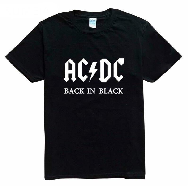 Neue Camisetas AC/DC Hip Hop Band Felsen   Shirts     T  -  shirt   Drucken Manner   T  -  shirt   Baumwolle O Neck Bluse Dry Fit Tops Mann   T   Hombr