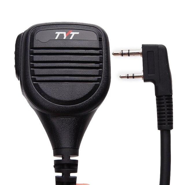 TYT IP54 MD 380 2 Pin PTT Remote Rainproof Shoulder Speaker Mic for TYT MD 380 MD 390 TH UV8000D/E Walkie Talkie MD 380G Radio