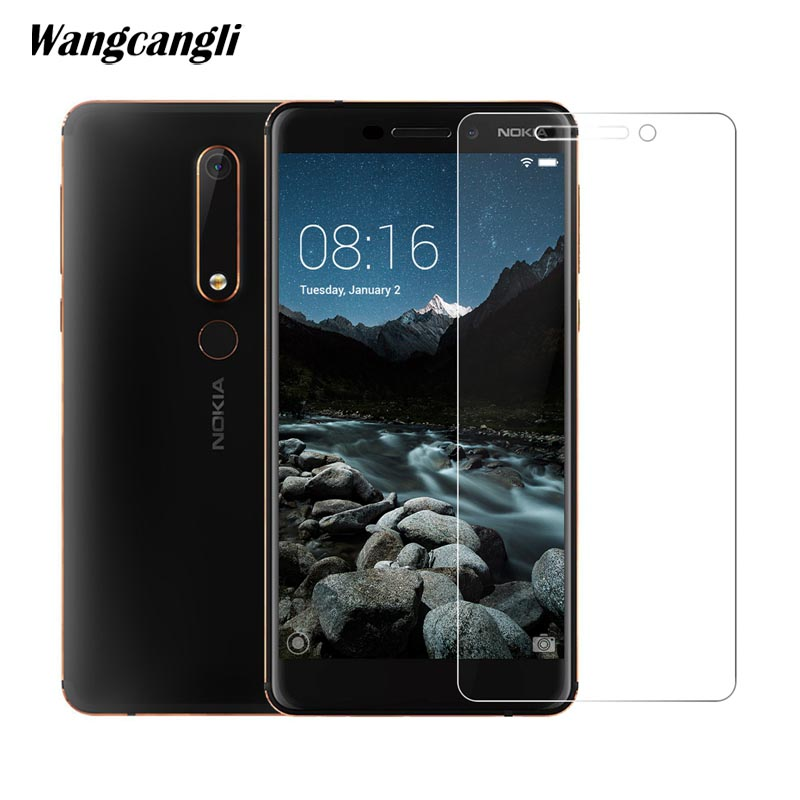 Wangcangli 2.5D Tempered Glass For Nokia 6.1 Screen Protector 9H Ultra-thin Mobile Phone Screen Protector Glass