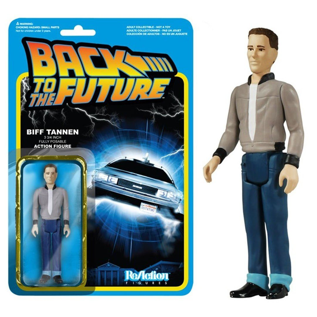 Funko ReAction Figure Back to The Future - Biff Tannen Vinyl Action Figure Collectible Model Toy with Original Box