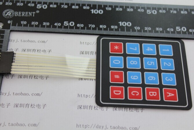 New 4*4 Matrix Array/Matrix Keyboard 16 Key Membrane Switch Keypad matrix 510345