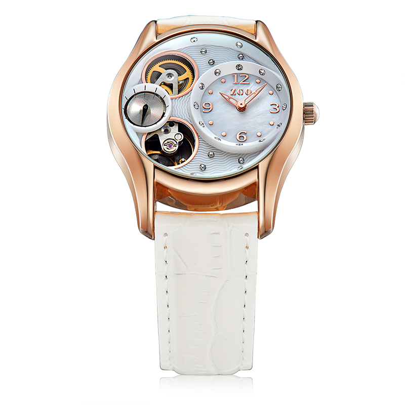 ZGO Automatic Watches For Women Luxury Top Brand Ladies Wrist Watch Water Resistant Automatic Mechanical Resistant Watches Women