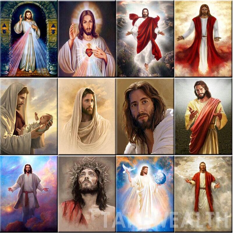 2018 Diy Diamond Painting Jesus Christ Icon Full Square Rhinestones Cross Stitch Crystal Mosaic Embroidery Home Decoration gift