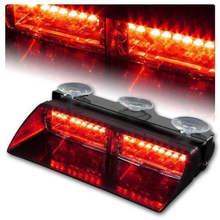 Keyecu 16LED красный яркий сигнальная лампа Автомобиль Строб Даш вспышка света для интерьера крыши Высокое качество ABS Корпус и Алюминий кронштейн