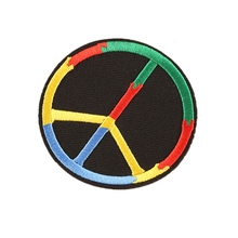 Custom embroidery patch PEACE SIGN iron-on WOODSTOCK SUMMER OF LOVE Motorcycles Biker Rock Punk Joke Sign Symbol DIY