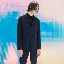 Одежда на заказ Европейская и американская мода необычный мужской костюм ремонт осенне-зимнего пальто певицы