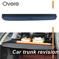 Overe 1Set Car Rear Trunk Cargo Cover For Audi Q3 2010 2011 2012 2013 2014 2015 Black Security Shield Shade Auto accessories