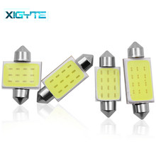 31mm 36mm 39mm 41mm FESTOON 12 Chips COB LED Bulb C5W C10W Car Dome Light Auto Interior Map Roof Reading Lamp DC12V Car Styling(China)