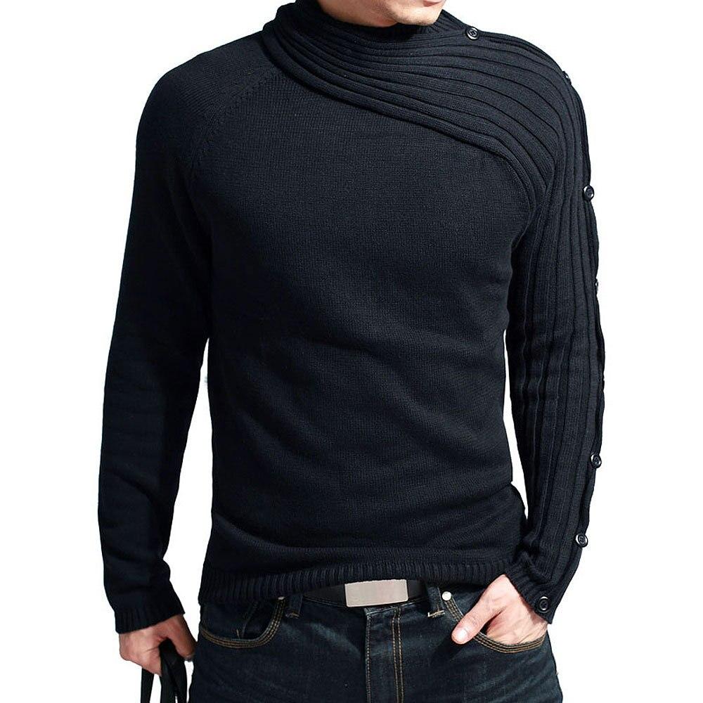 Pullover Pollovers Männer 2018 Männlich Marke Beiläufige Dünne Pullover Männer Vogue Schal Kragen Dicken Sicherungs Rollkragen Männer Pullover XXL