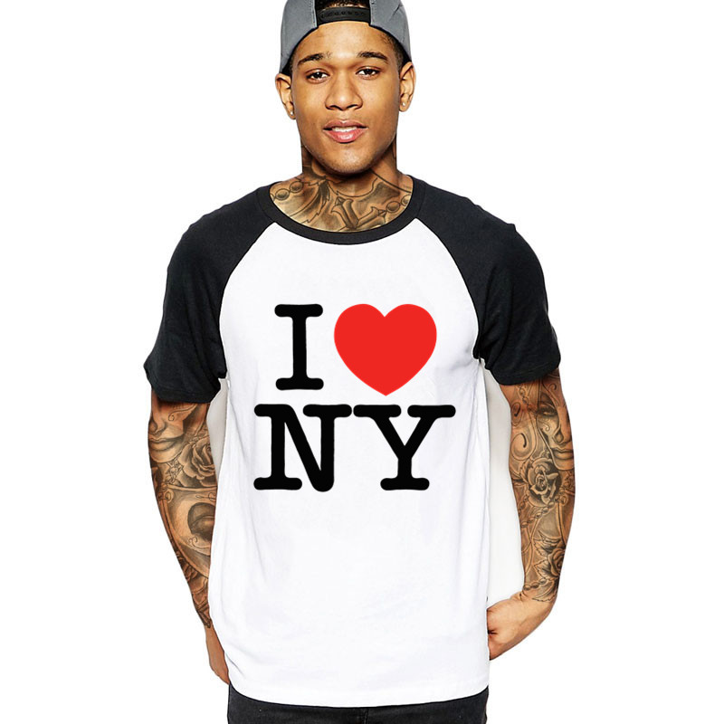 T <font><b>Shirts</b></font> For Men <font><b>I</b></font> <font><b>Love</b></font> <font><b>NY</b></font> New York Printed Heart New High Quality TShirt Customized T-<font><b>Shirt</b></font> XXXl male streetwear funny clothing image