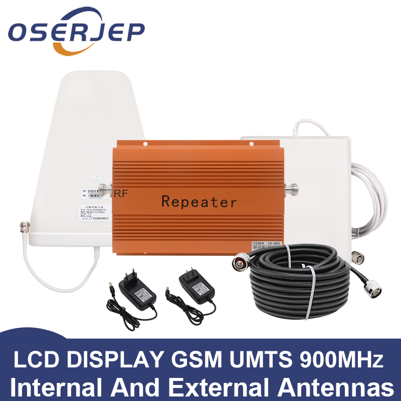 Full set 850MHz Repeater 2G 3G GSM CDMA Booster 850 Mobile Cell Phone Signal Repetidor Amplifier