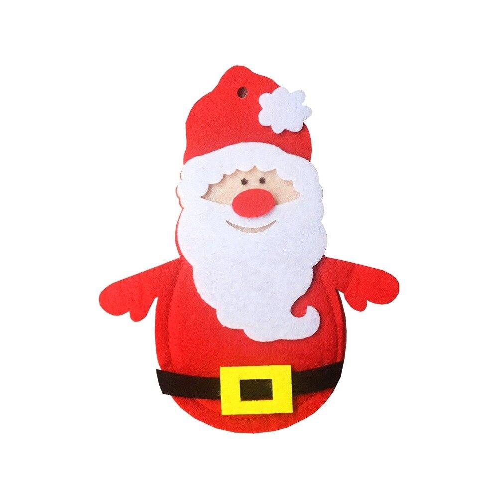 Шляпа Санты, олень, Рождество, Год, карманная вилка, нож, столовые приборы, держатель, сумка для дома, вечерние украшения стола, ужина, столовые приборы 62253 - Цвет: H15