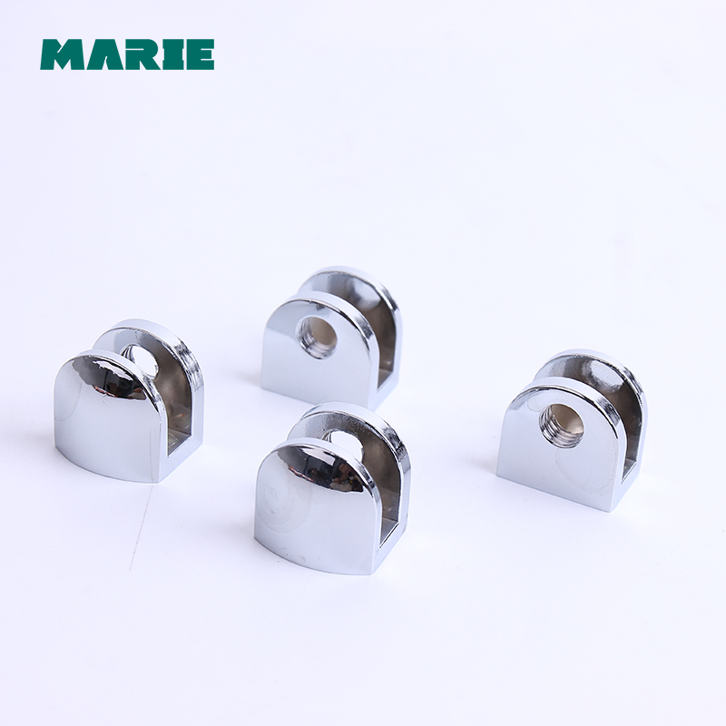 4PCS Half Round Glass Clamps Plane Zinc Alloy Shelves Support Two Hole Corner Bracket Clips For 8mm 10mm 12mm Furniture Hardware 8pcs round shelves support brackets clamps clips for 4 6mm glass wooden acrylic adjustable screw fix for wood glass acrylic
