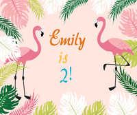 Lamingo Geburtstag Hintergrund Flamingo banner Tropical Party Prinzessin Hintergrund Prinzessin Photo Booth w283