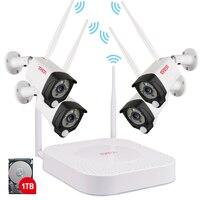Tonton Беспроводная система видеонаблюдения 1080 P 1 ТБ HDD 2MP 8CH видеонаблюдение NVR аудио запись PIR сенсор открытый комплект для камеры видеонаблюд...