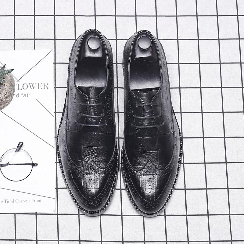 Marque kh1880as 2018 Richelieu Kh1880bl Osco kh1880br kh1880ye Oxford Mode Pour Hommes Chaussures Brun Fête La Robe D'affaires De Mariage Bout Noir Rond 0EBWB4gR