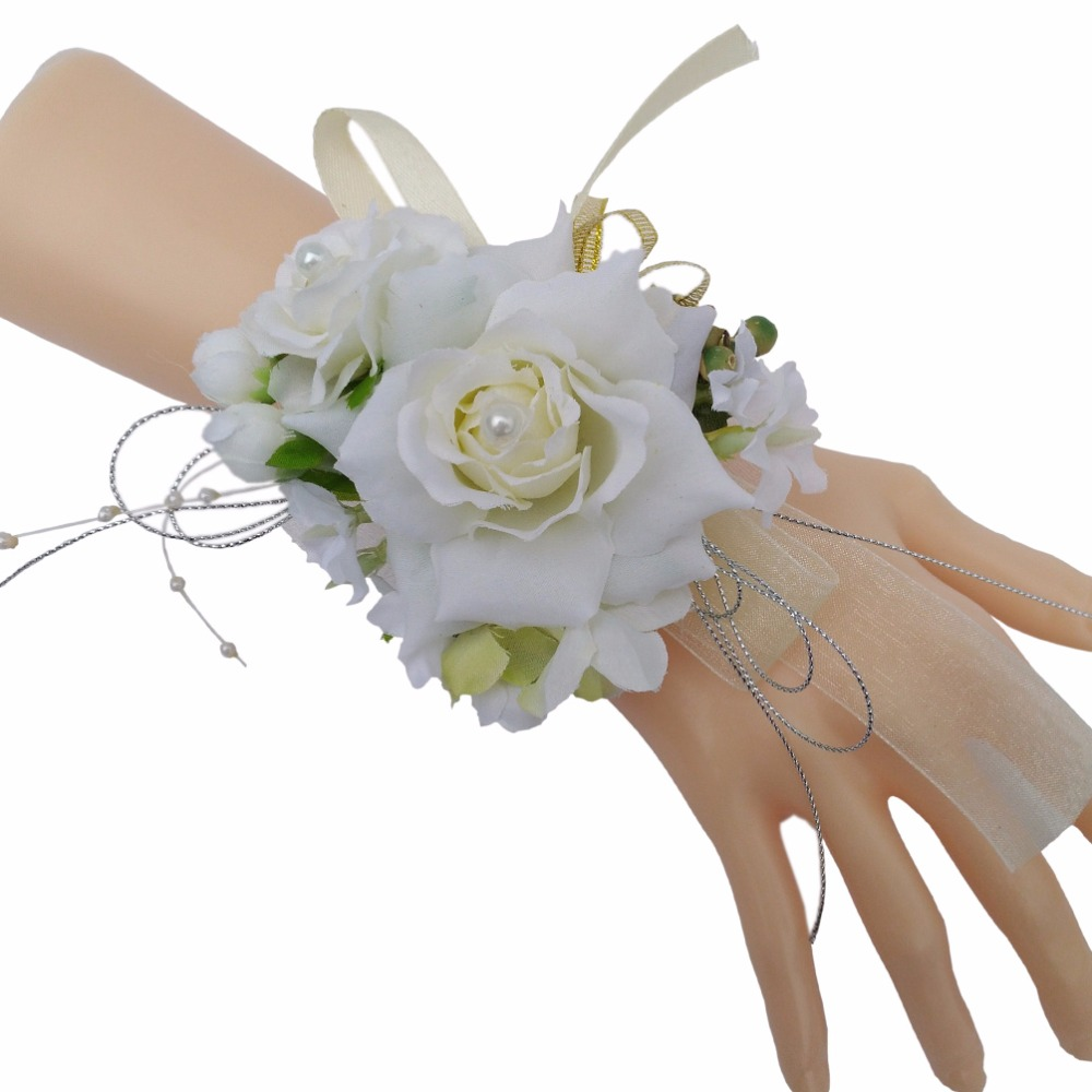 Clothing, Shoes & Accessories Other Mobility & Disability 2019 Latest Design 1pc Handcrafted Wrist Corsage Bracelet Artificial Silk Rose Flowers For Wedding Hand Flower Bouquet For Bride Event Supplies