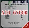 Free shipping Original For AM-D APU A10 6700 A10-6700 3.7G L2 4M quad core socket FM2 CPU Processor A10 6700k