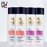 4 PCS one set free shipping 5% Brazilian Keratin Treatment straightening hair make hair smoother hot sale Hair Scalp Treatment