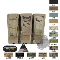 Emerson Tactical Modular M4 M16 AR15 5.56 .223 Triple Magazine Pouch Emersongear MOLLE Mag Carrier Ammo Holder Multicam MC