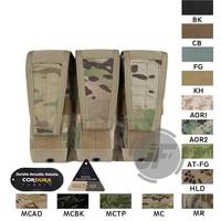 Emerson Tactical Modular M4 M16 AR15 5.56 .223 Triple Magazine Pouch Emersongear MOLLE Mag Carrier Ammo Holder Multicam MC