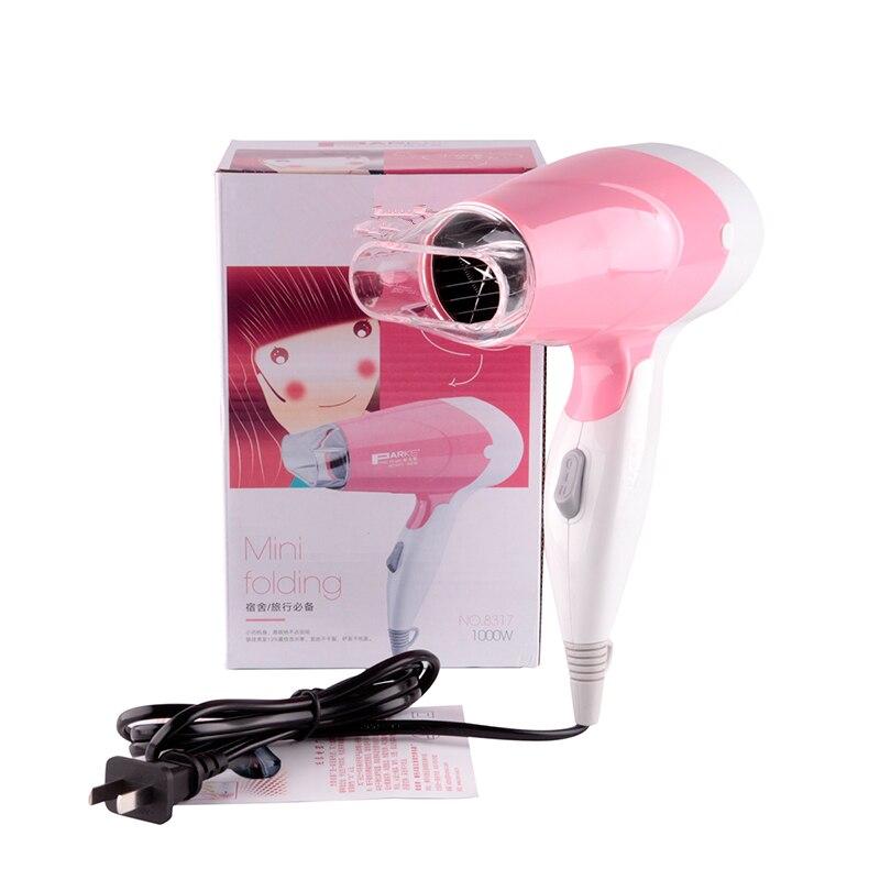 Mini Céramique Cheveux Ionique Ventilateur 1000 W Salon Professionnel Sèche-Cheveux Haute Puissance 220 V pliable poignée Voyage Des Ménages Sèche-Cheveux