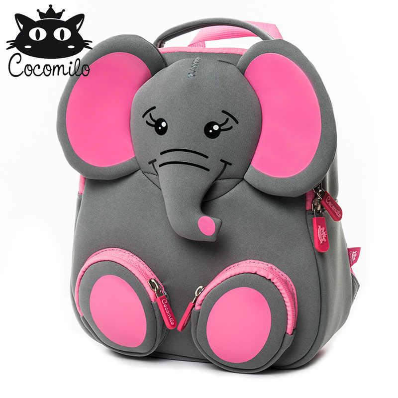 e4d4ff009e New Cartoon School Bags For Boys Girls Elephant Backpacks Kid Small Bags Kindergarten  Backpack Animal Design