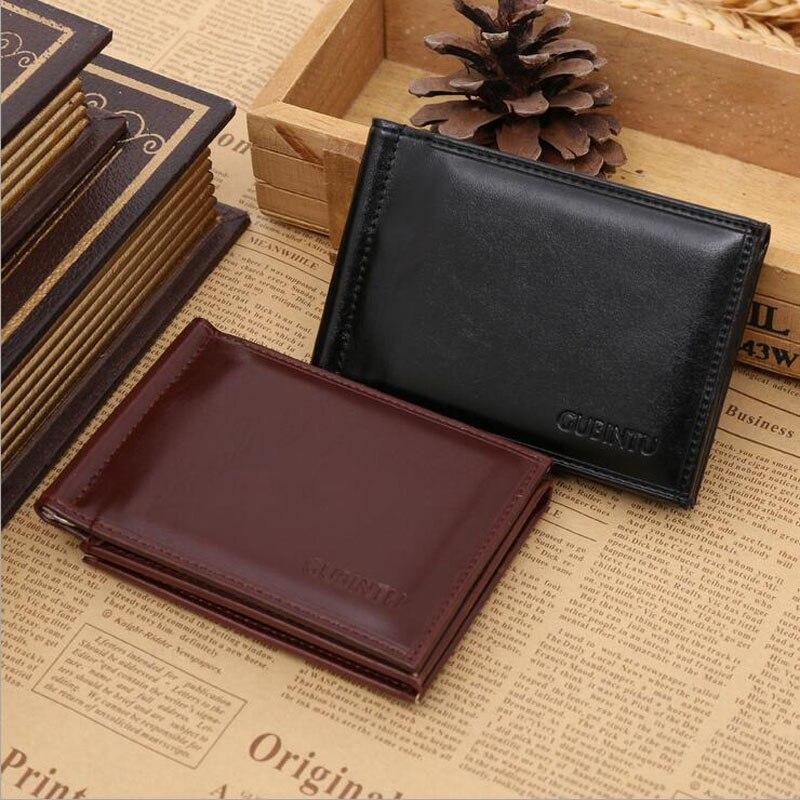 Ny Brand Luxury Business Man pengar klipp plånbok med metall klämma - Plånböcker - Foto 2