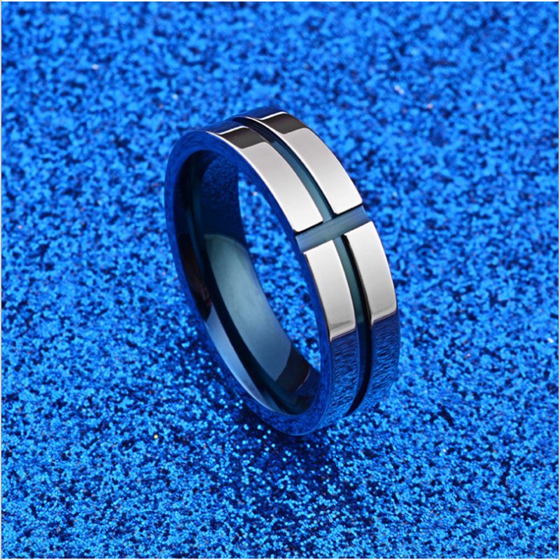 New Arrival 316L Stainless Steel Superman Finger Rings Blue Cross Mens Titanium Steel Rings For lover Jewelry Wedding Gifts