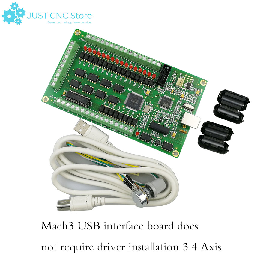 6 Ejes 125KHz USB Mach3 Motor Paso a Paso Tarjeta de Control de Movimiento Placa de Interfaz USB Interfaz Placa controladora CNC 12-32VDC para servomotor