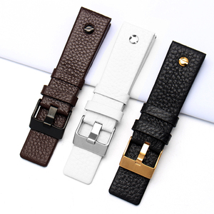 Image 3 - New Fashion Leather Watchband with rivet Watch Strap Belt Bracelet for diesel DZ7313 DZ7333 7322 7257 4318 7348 7334 Replacement