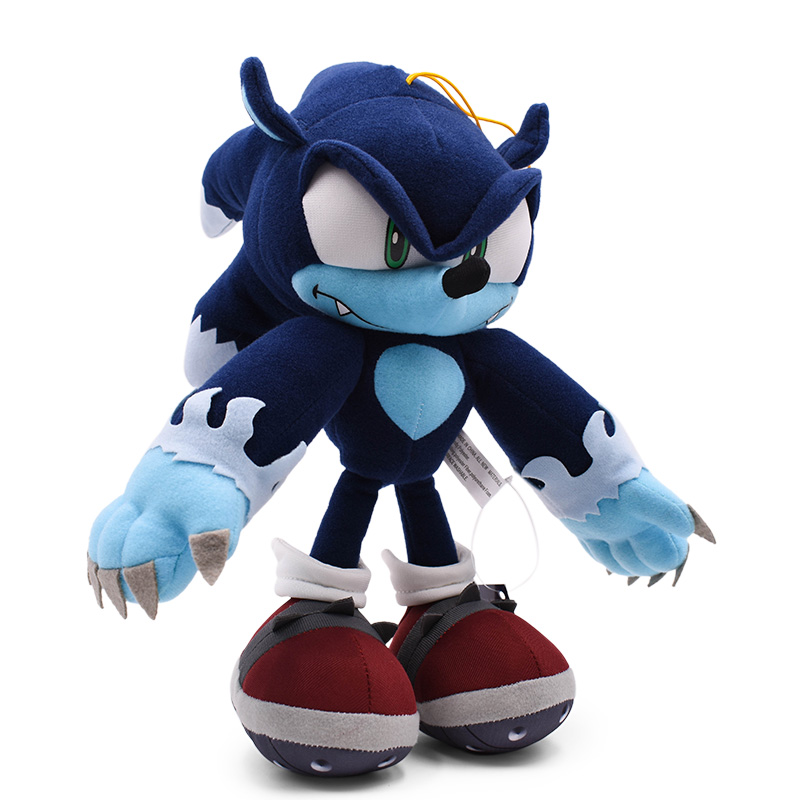 30 Cm Sonic World Adventure Sonic The Werehog Soft Doll Cartoon Animal Stuffed  Peluche Plush Toy  Christmas Gift For Children