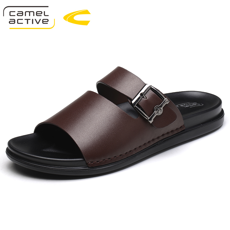 Camel Active New High Quality Summer Men's Shoes Genuine Leather Men Slippers Comfortable Men Shoes Fashion Plus Size 44