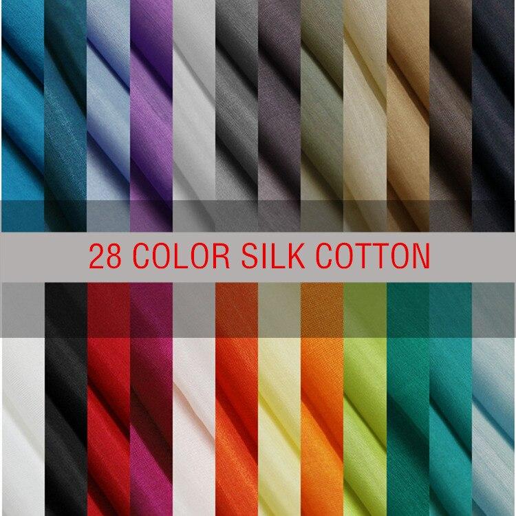 140 cm large 9mm printemps et d'été de coton de soie mélangée doublure tissu Livraison gratuite tissu SCB1509