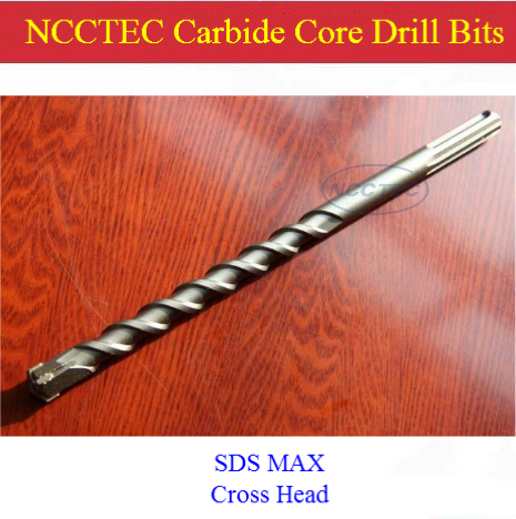[SDS-PLUS+Cross head] 25*400mm 1'' NCCTEC alloy wall core drill bits for wall drill machine FREE shipping|coring pits [sds plus cross head] 25 400mm 1 ncctec alloy wall core drill bits for wall drill machine free shipping coring pits