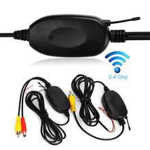 Обратный парковочный резервный Cam монитор 2,4G беспроводной RCA видео передатчик приемник адаптер Комплект для автомобиля DVD монитор камера заднего вида