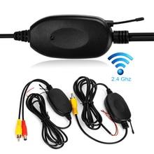Ters park yedekleme kamera monitör 2.4G kablosuz RCA Video alıcı verici adaptörü kiti araç DVD oynatıcı monitör dikiz kamera
