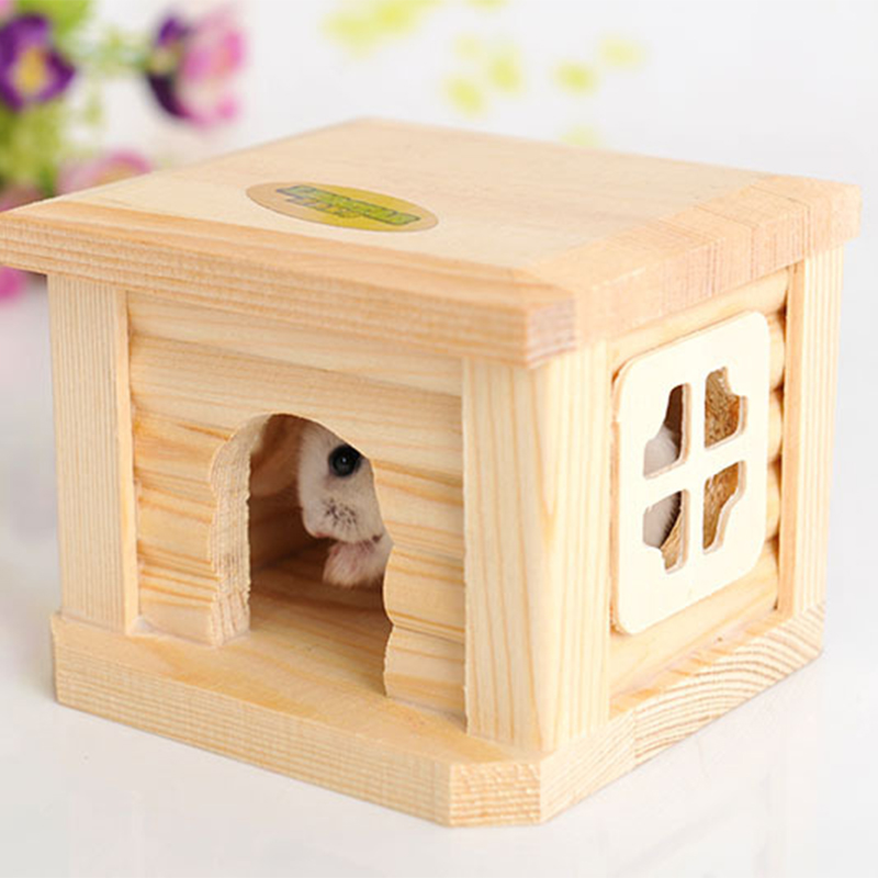 Mini Small Pet Wooden House CageWinter Windproof and Warm Nest Cave for Mouse Hamster Squirrel Baby Case Animals Accessories6
