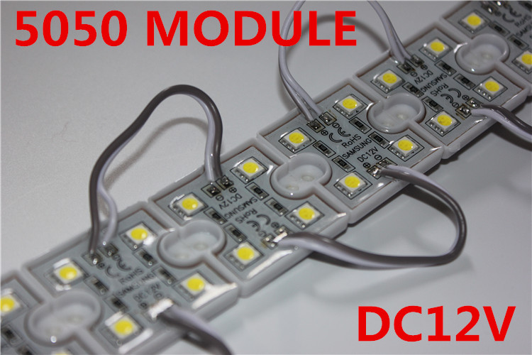 20PCS <font><b>LED</b></font> 5050 <font><b>4</b></font> <font><b>LED</b></font> <font><b>Module</b></font> 12V waterproof super brighter square <font><b>led</b></font> <font><b>modules</b></font> lighting,20PCS/Lot image