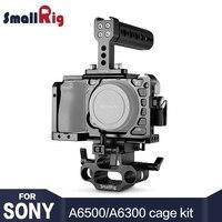 SmallRig A6500 клетка Камера аксессуары комплект для sony A6500 Камера с верхней ручкой, ГМДИ кабельный зажим, DSLR 15 мм базы Поддержка 1986