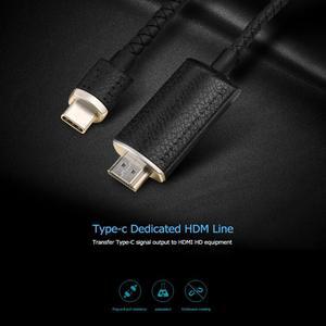 Image 4 - ALLOYSEED 2 m USB di Tipo C C a HDMI 4 K Cavo Adattatore di Tipo C Cavo di Prolunga HDMI Per macBook Pro Huawei Mate 20 Samsung S10 S9 S8