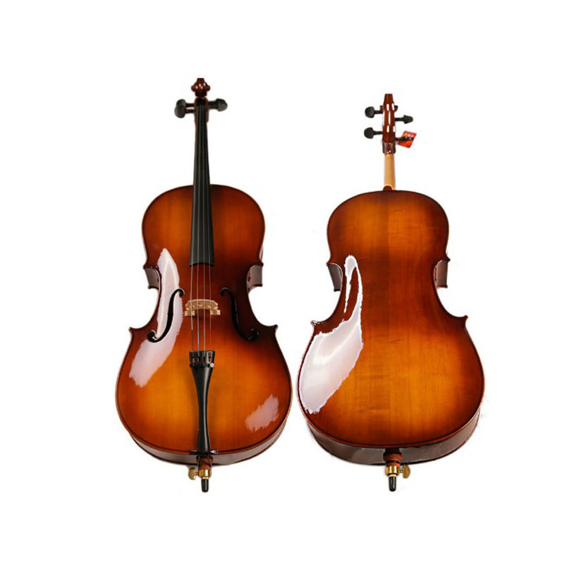 Handcraft Cello Full Size  4/4 4/3 1/2 1/4 Cello Bright Paint Acoustic Musical Instrument Violonchelo For Beginner Student