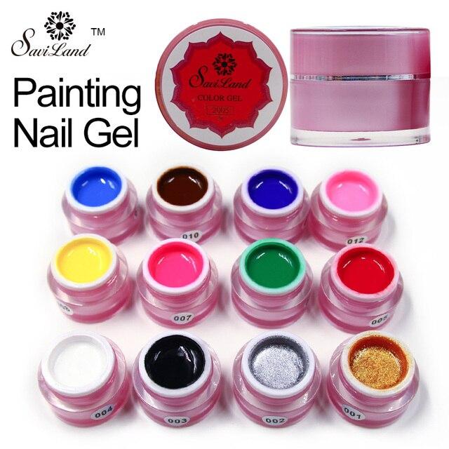 Saviland żel do malowania uroczy czyste kolory UV LED żelowy lakier do paznokci kolor dla dekoracja paznokci projekt żelowy lakier do paznokci