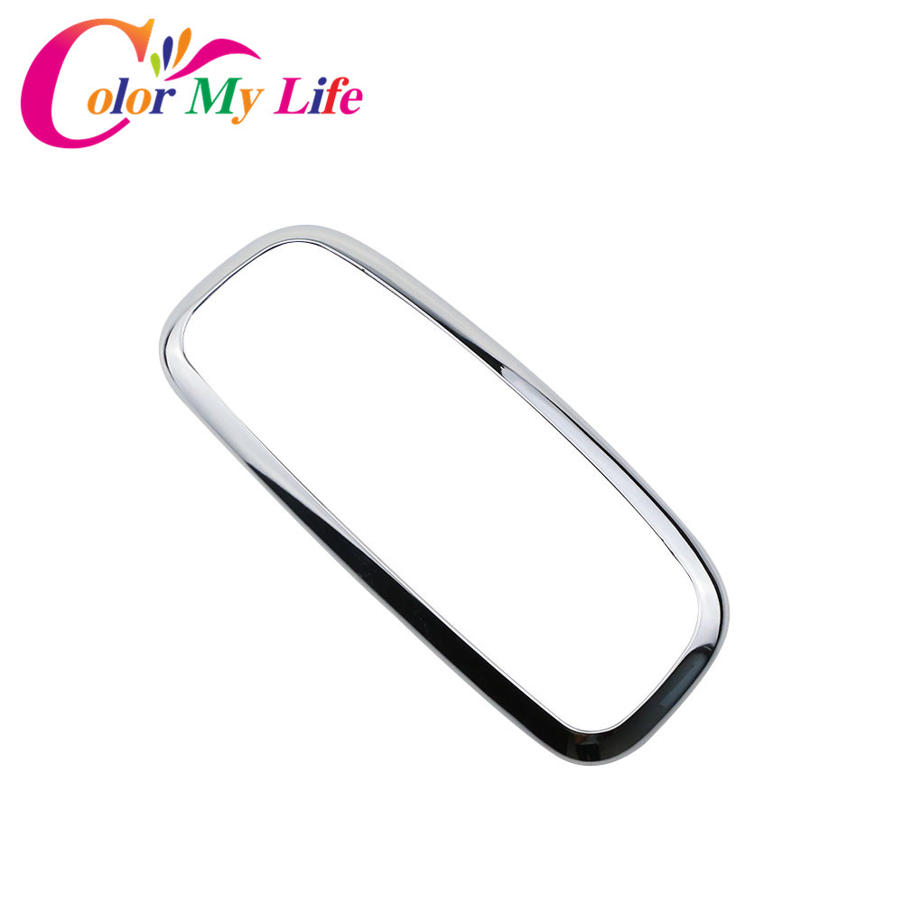 Color My Life ABS Chrome Car Rear Reading Lamps Cover Reading Lights Circle Trim Sticker for Ford Ecosport 2017 2018 Accessories car auto accessories rear trunk molding lid cover trim rear trunk trim for nissan sunny versa 2011 abs chrome 1pc per set