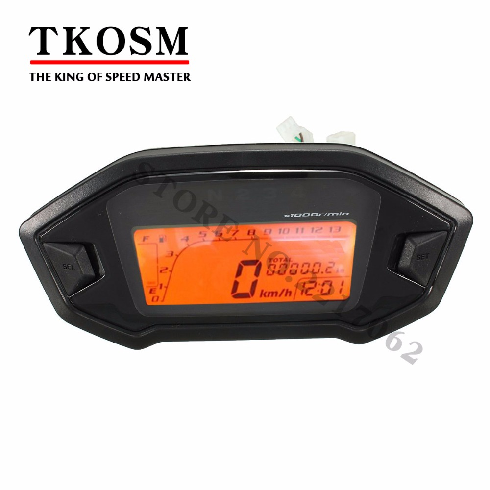 2016 Brand New Lcd Backlight Motorcycle Speedometer Odometer Tachometer Kmh Gauge Universal Motorcycle Speedometer Sensor детская футболка классическая унисекс printio nissan skyline r32 gt r