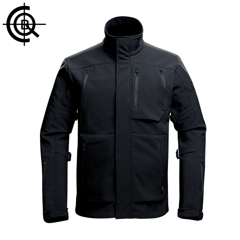 CQB Outdoor Softshell Jackets Men Water Repellent Slim Fit Hiking Fishing Hunting Clothes Lining Fleece Windbreaker CYF1223 windbreaker water resistant softshell outdoor camping trekking hiking pants men climbing hunting fleece lining pantalones hombre
