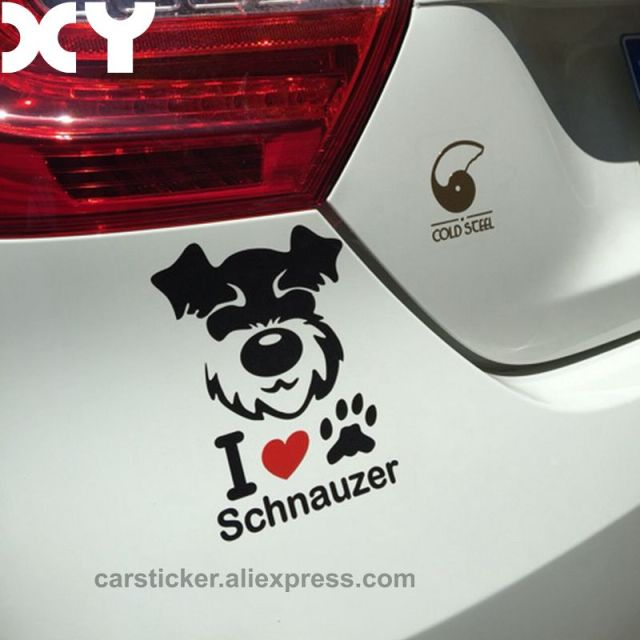 Schnauzer vinyl decal waterproof dog stickers car stickers and decals motorcycle stickers automobiles sticker drop shipping