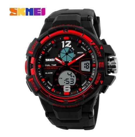 SKMEI G цифровые модные стильные мужские военные спортивные часы армейские военные наручные часы Спортивные кварцевые часы - 3