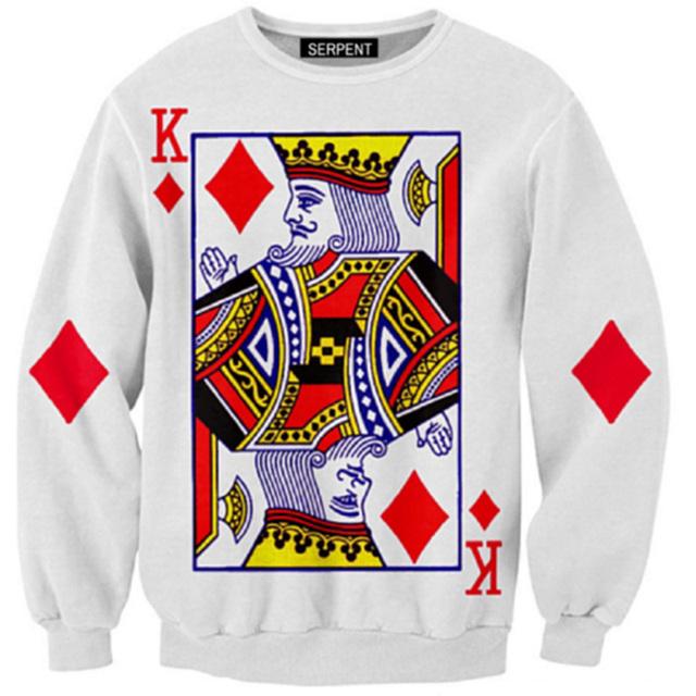 King of Diamond Printed Hoodie